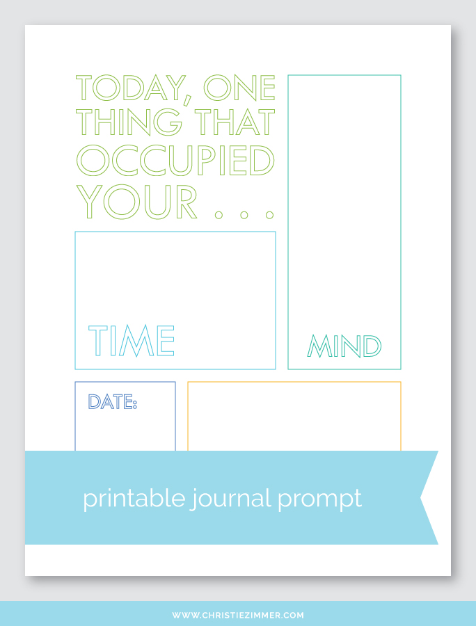 time, heart, mind printable - Free!