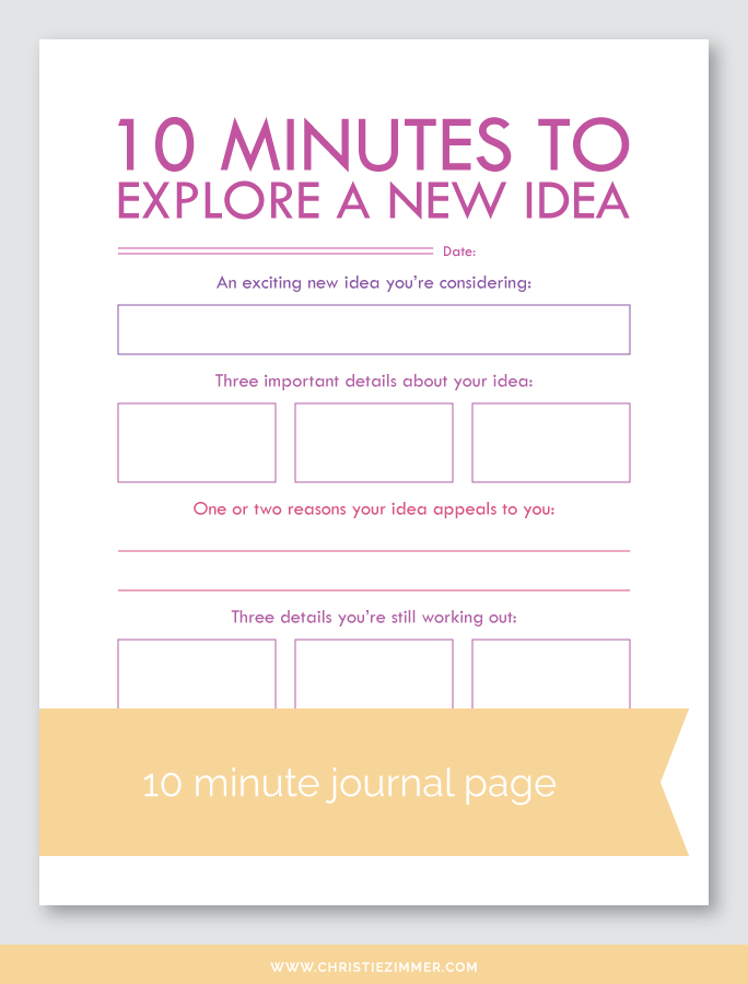 explore a new idea printable journal page - FREE!