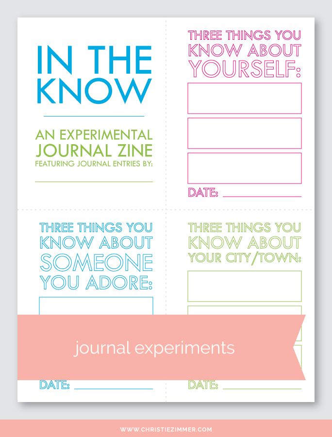 in the know printable journal zine - Free!