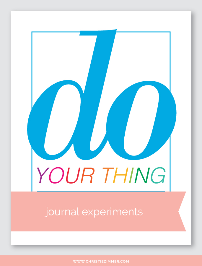 do your thing printable journal page - Free!