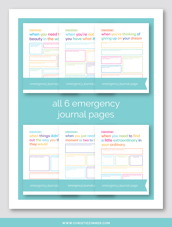 photograph about Journal Pages Printable titled All 6 Unexpected emergency Printable Magazine Internet pages Christie Zimmer