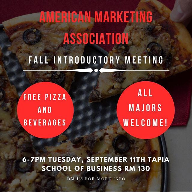 TODAY, 6PM in the SOB. Come enjoy some pizza, learn about us and how to join the team. #RUSHAMA