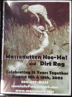 The Hoo Ha poster at SBC..The lake jump was the race highlight!