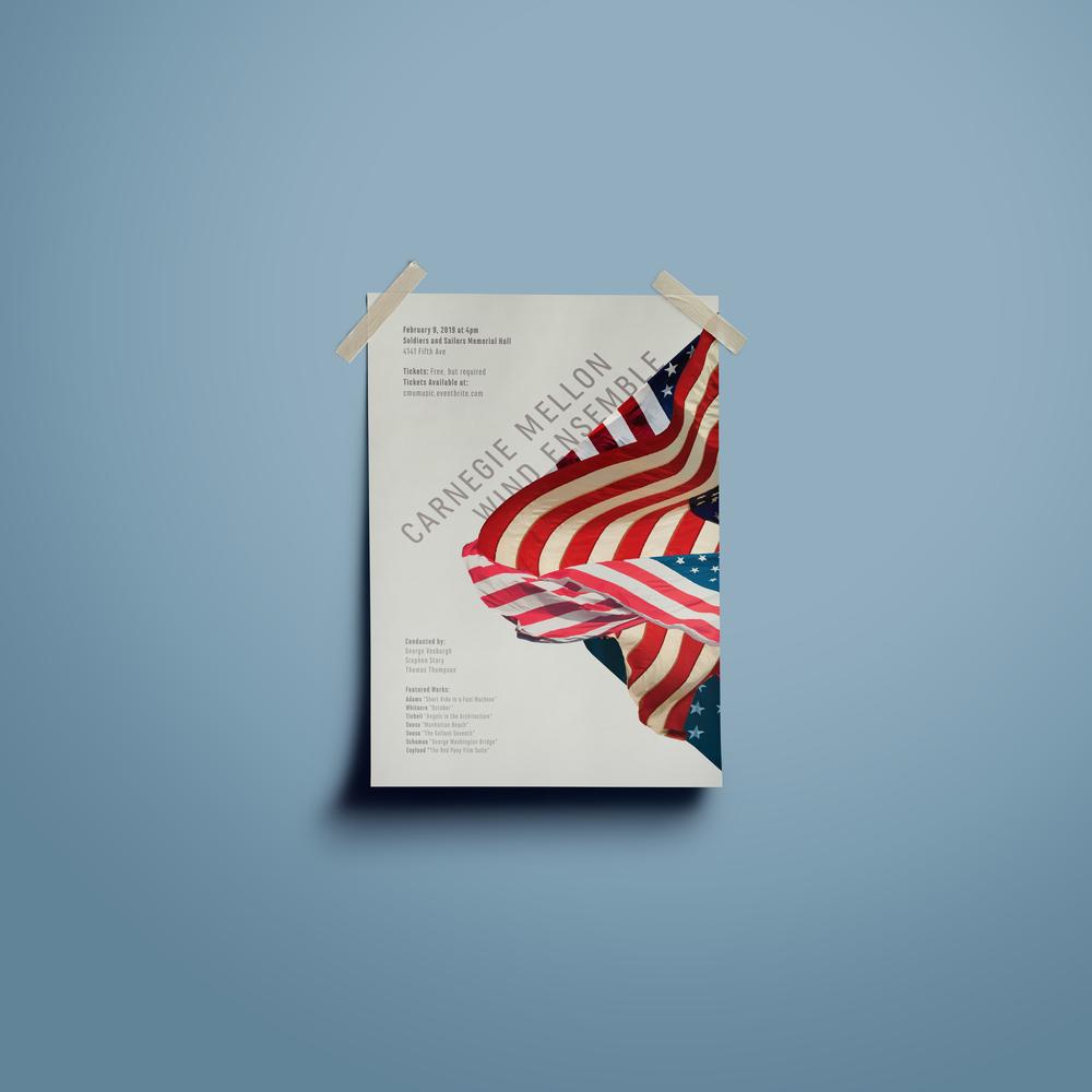 Carnegie Mellon Wind Ensemble - Poster design