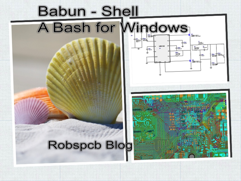 3 Unix Shell for Windows - based on Cygwin - Babun — RobsPCB