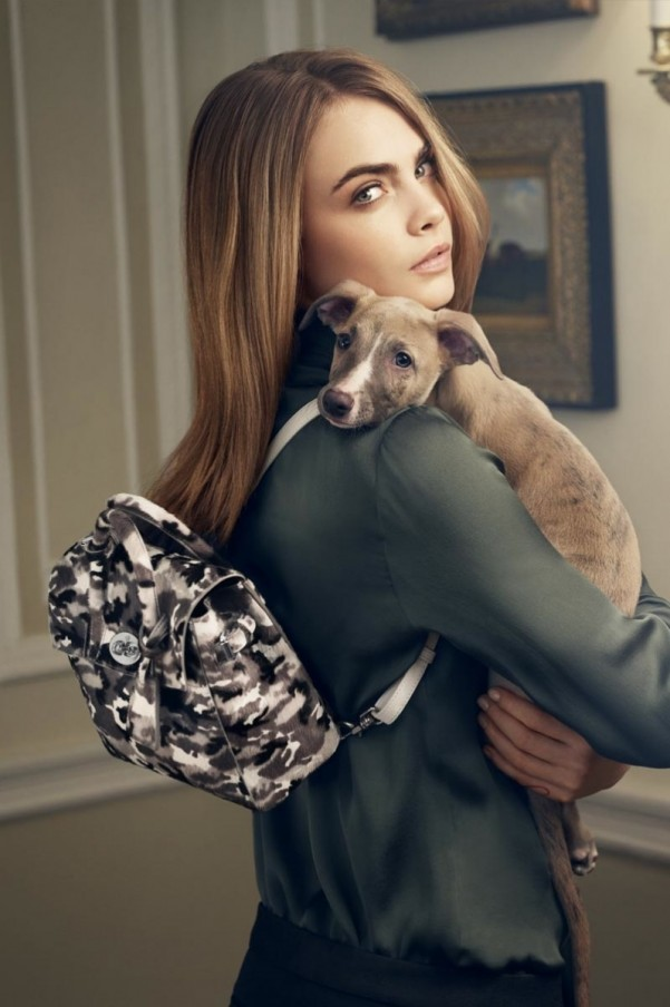 CARA DELEVINGNE FOR MULBERRY. PHOTOGRAPHER REMAINS ANONYMOUS.