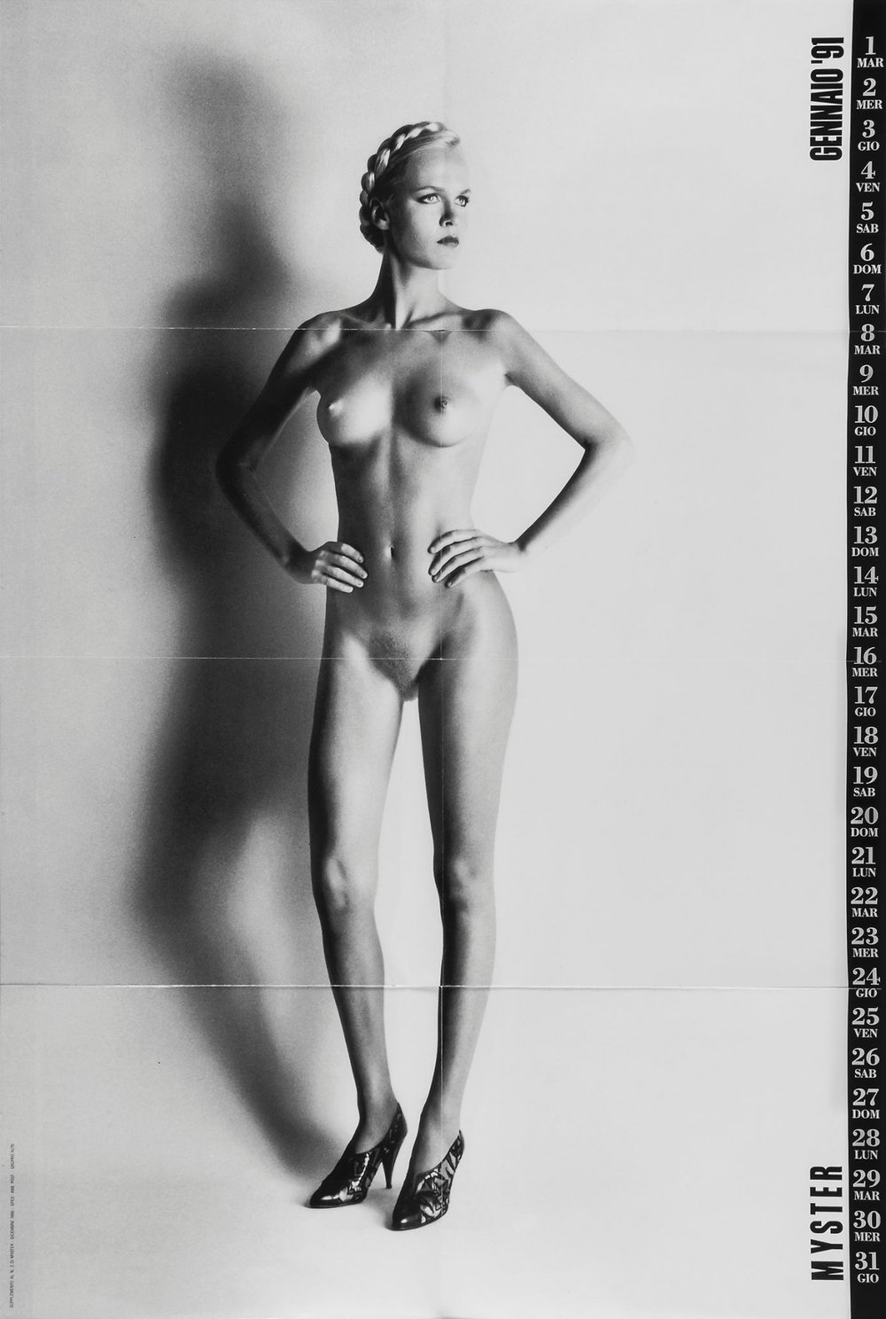 The original shot by Helmut Newton