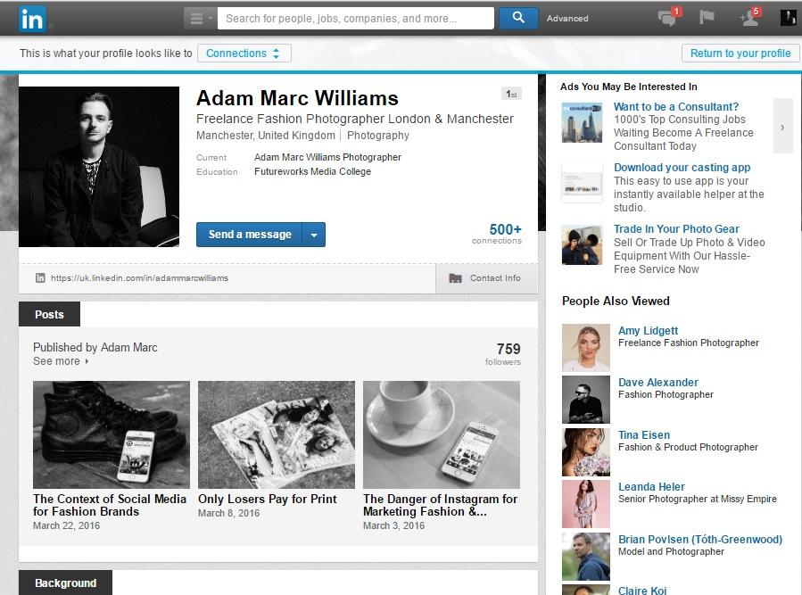 My Personal LinkedIn