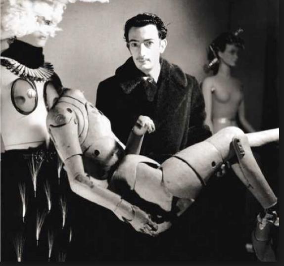 Salvador Dali with Mannequin