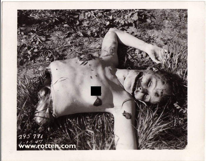Crime Scene Photo of The Black Dahlia