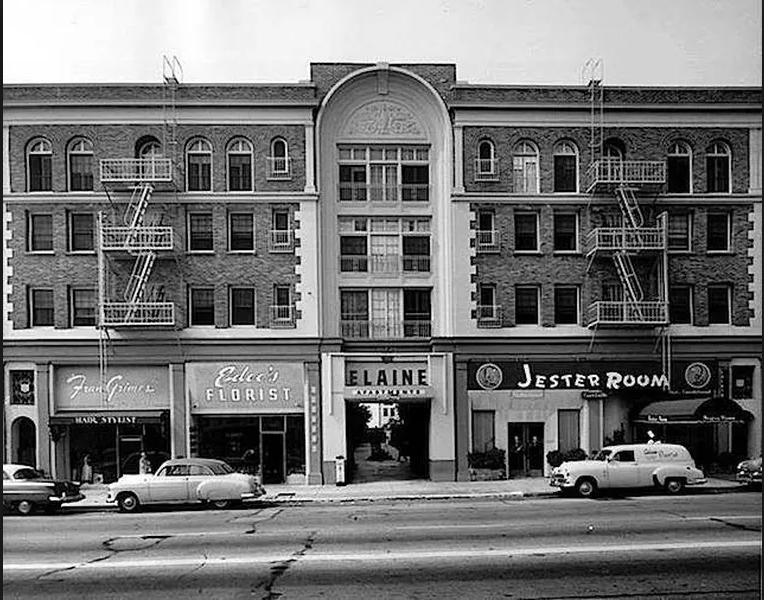 Villa Elaine on Vine Street in 1947