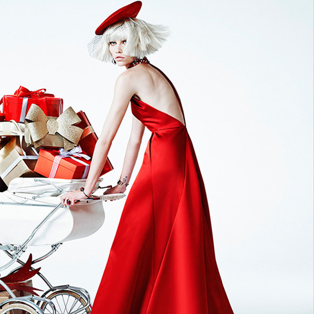 Image by Aline Weber is Christmas Shopping Shot by Zee Nunes for Vogue Brazil December 2013