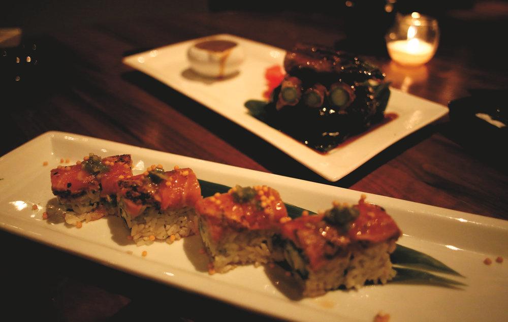 Gensai Roll & Rib Eye Wrapped Asparagus