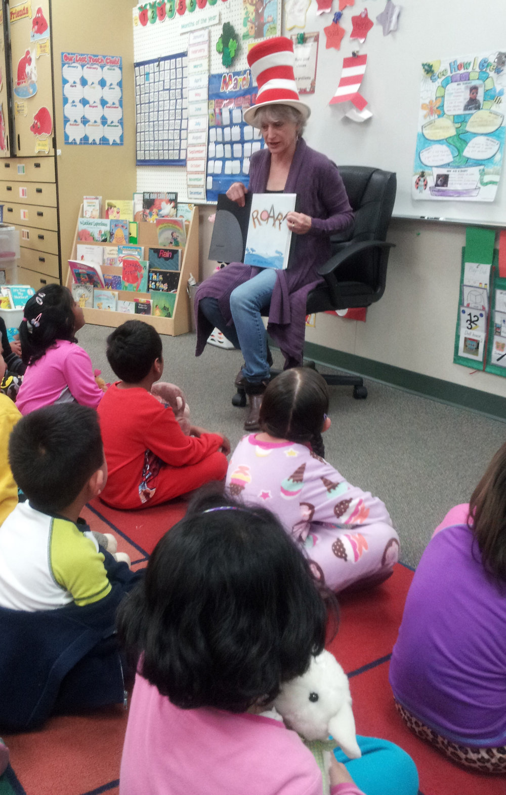 On Dr. Seuss Day at Fairlands Elementary,  Pleasanton, CA