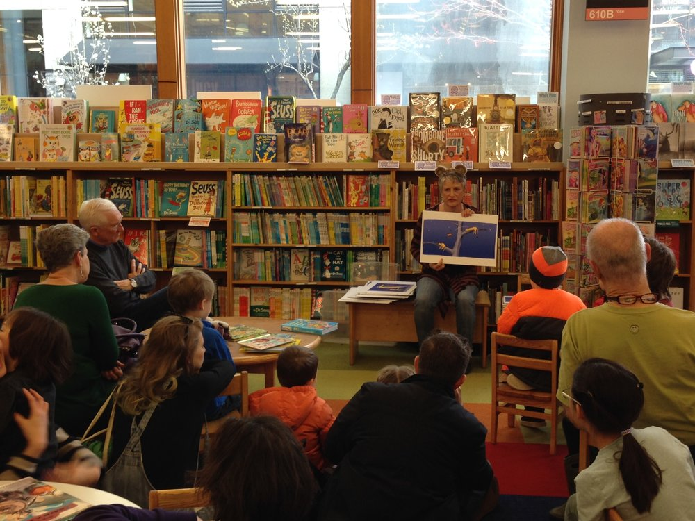 A reading at Powell's Bookstore, Portland, OR