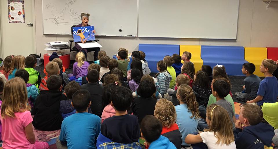 Reading at Sunol Glen Elementary, Sunol, CA