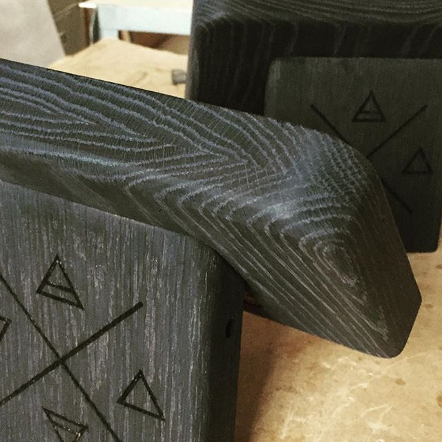 Working on something mysterious for @rootedjuicery . . . #process #ebonized #oak #hardwood #tomwillmake #productdesign #madeinamerica #pointofsale #woodgrain