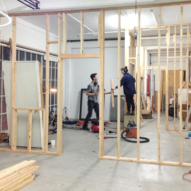 Sistine Chapel moment with @beachxbumx1234 building out a space for @symmetrylabs in San Francisco