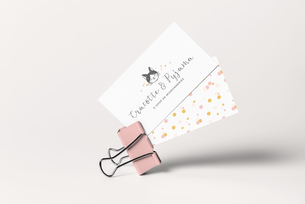Cartes de visite Cracotte & Pyjama, Graphiste à Maisons-Laffitte et dans les Yvelines