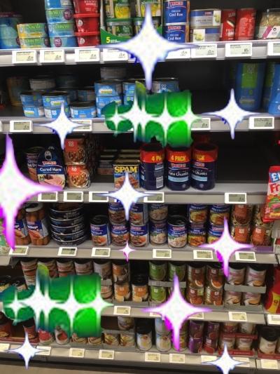 A photograph of the shelves taken by Mrs Le Cornu