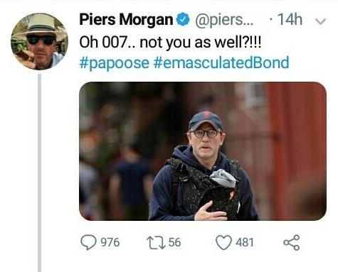 Morgan's Twitter post today