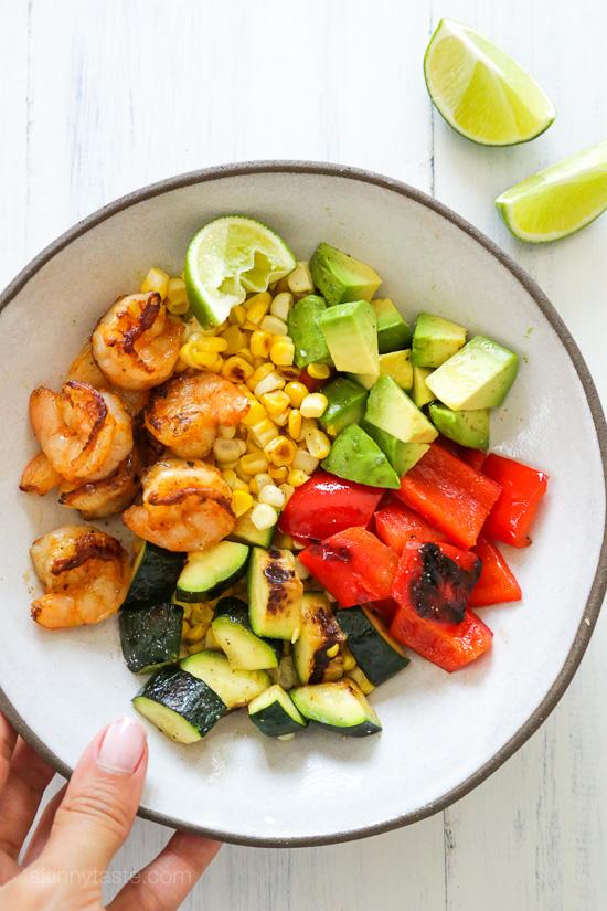 Grilled Shrimp & Vegetable Bowl