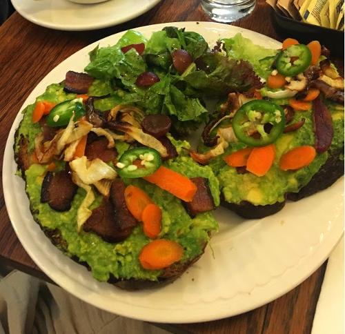 Avocado Toast at The Artist Baker