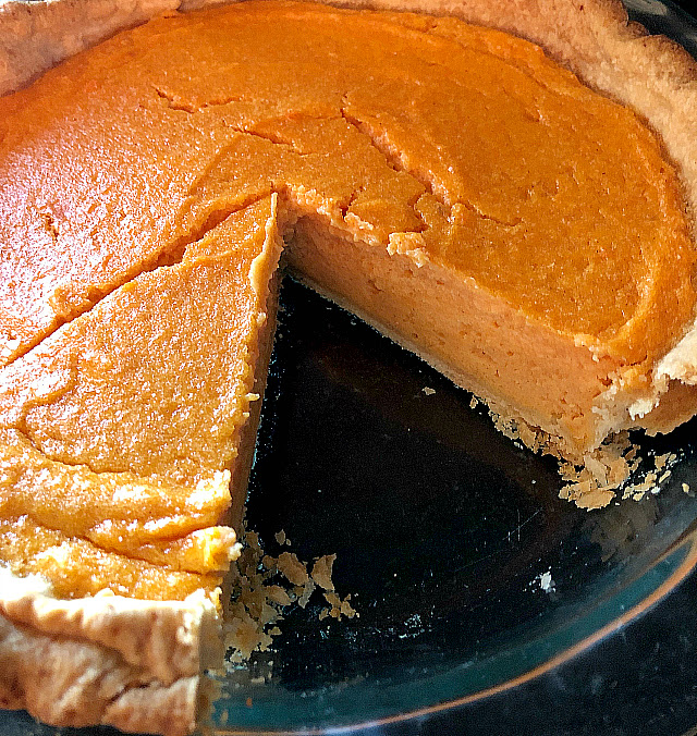 Sweet Potato Buttermilk Pie