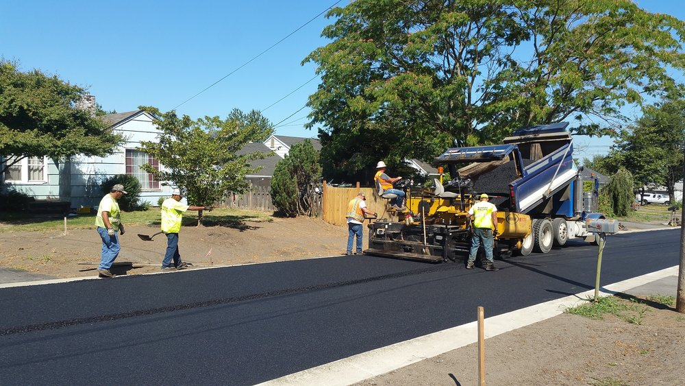 Paving the 72nd Avenue Green Street.