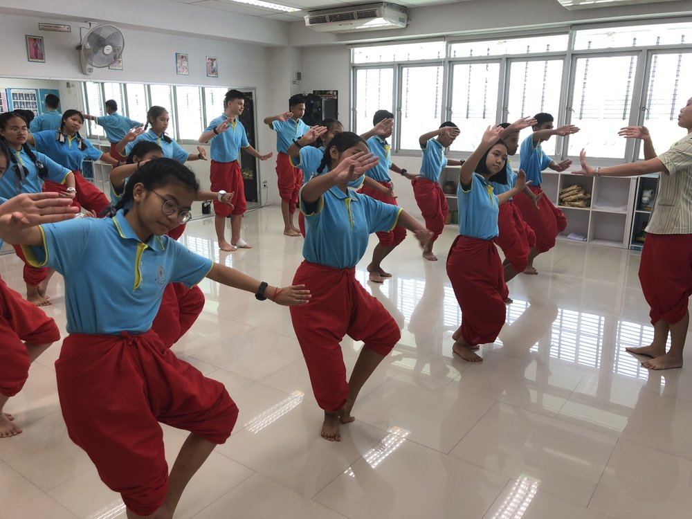 A Thai dance class we observed during our school visit.