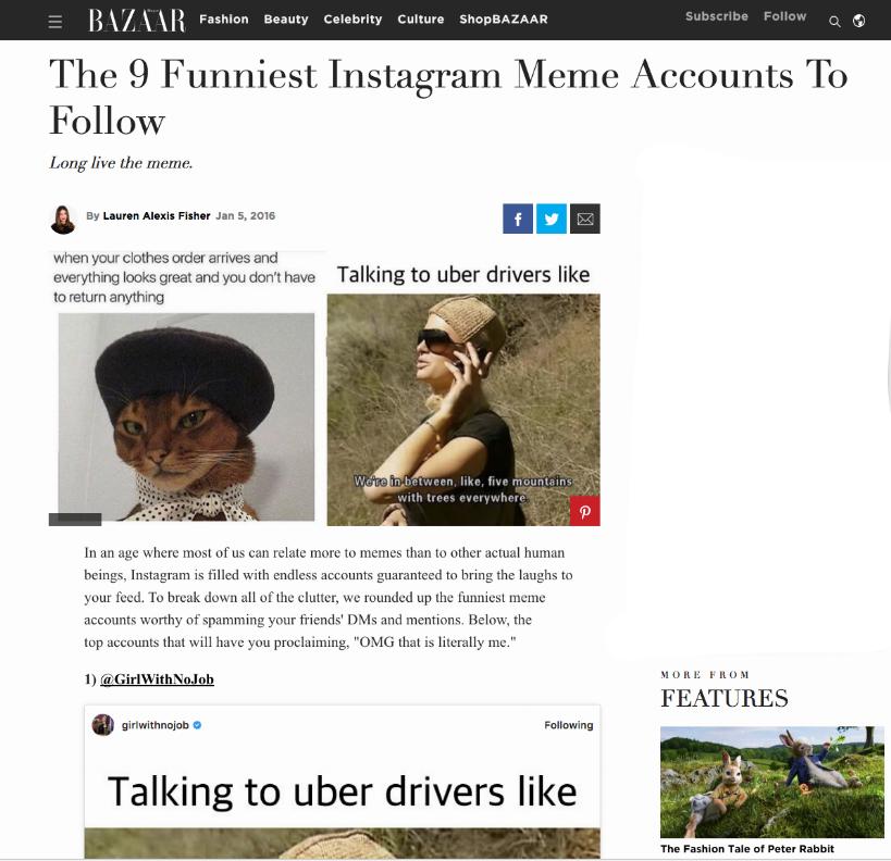 Harper's bazaar - The 9 Funniest Instagram Meme Accounts To Follow