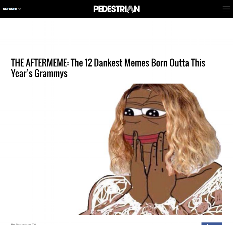 pedestrian - THE AFTERMEME: The 12 Dankest Memes Born Outta This Year's Grammys