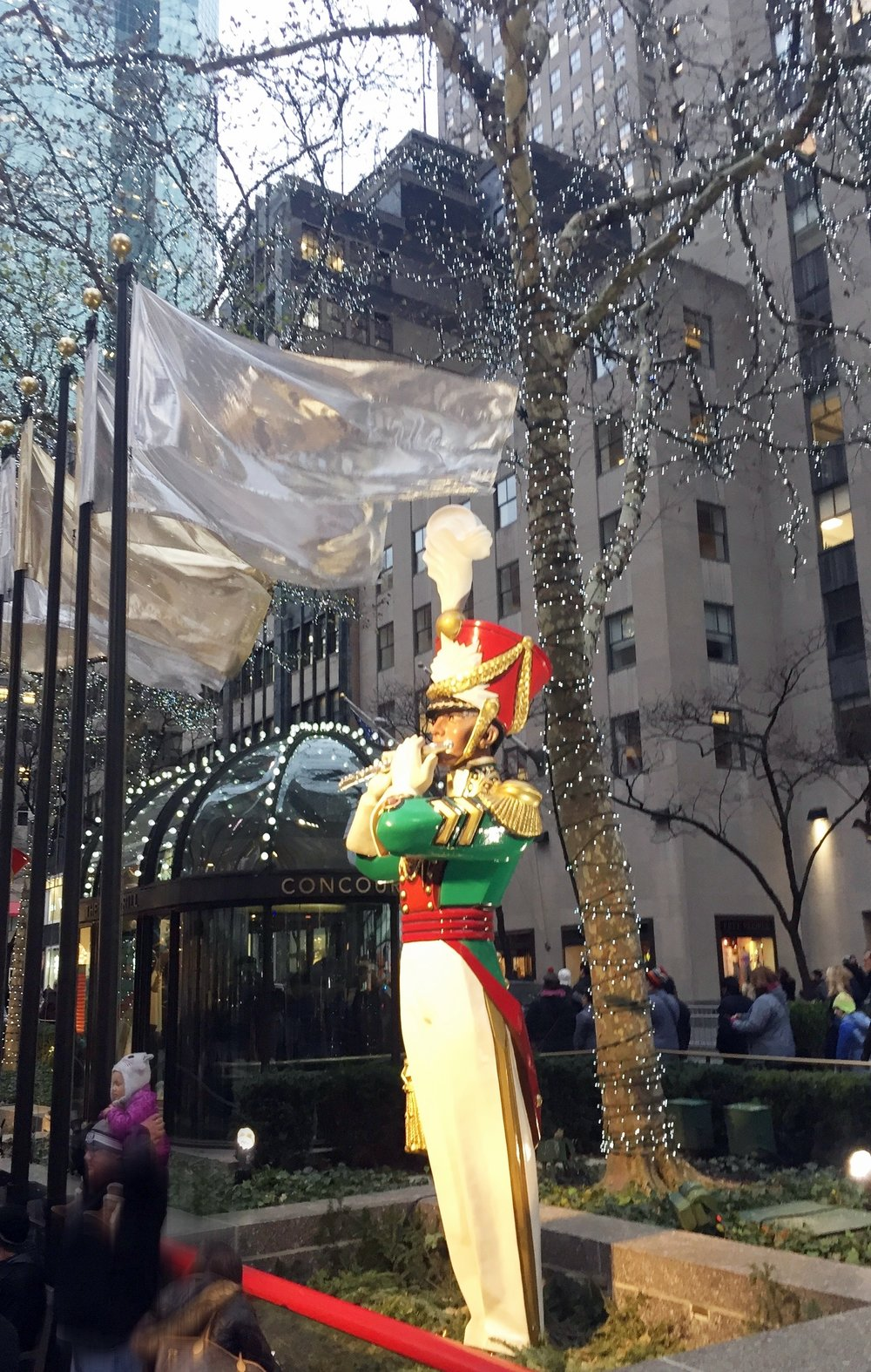 Giant toy soldier at Rockefeller Center.