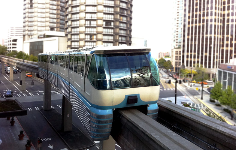 Sky train, Seattle.