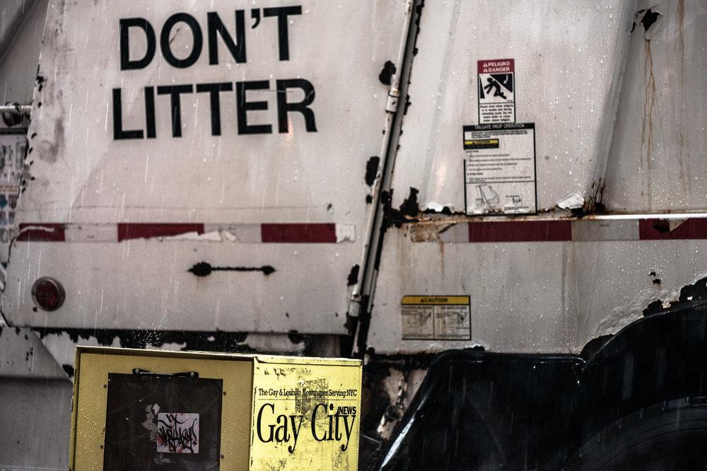 Don't litter.