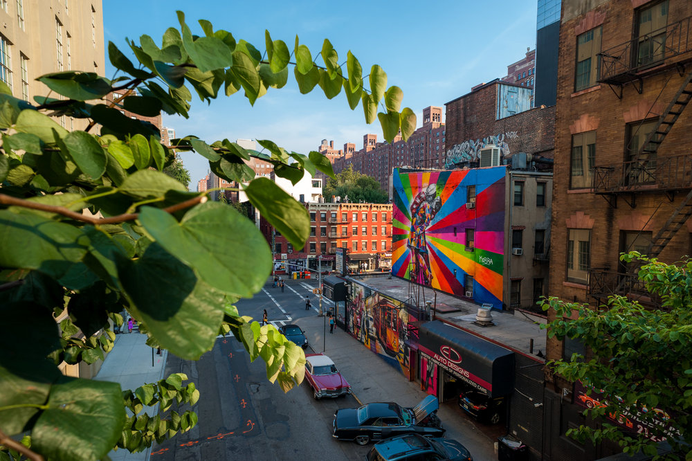 High Line Kiss Mural - Eduardo Kobra