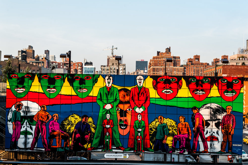 High Line Art Billboard - Gilbert & George's Waking