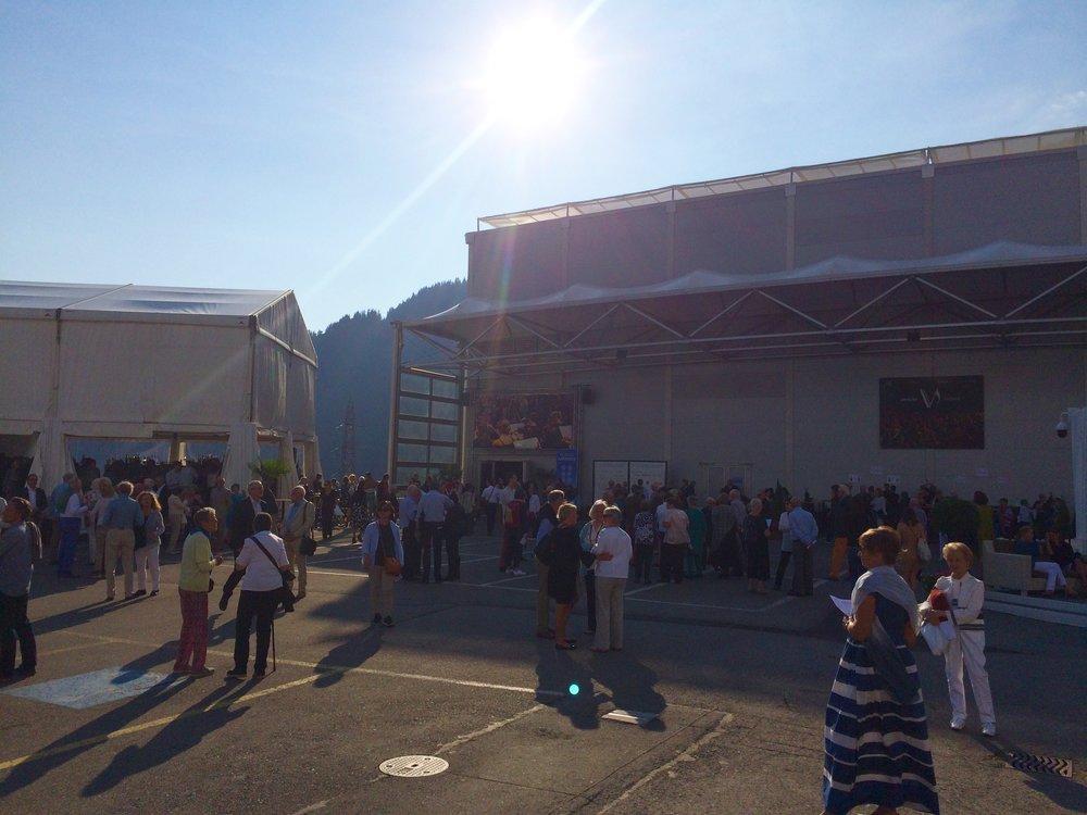Outside Salle des Combins