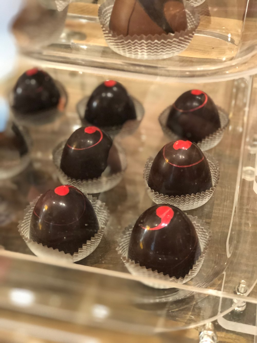 Strawberry Sublime truffles are one of the many chocolate delicacies we offer at Cape Charles Candy Company. Choose from a variety of truffles, pretzels, fudge from our chocolate cases.