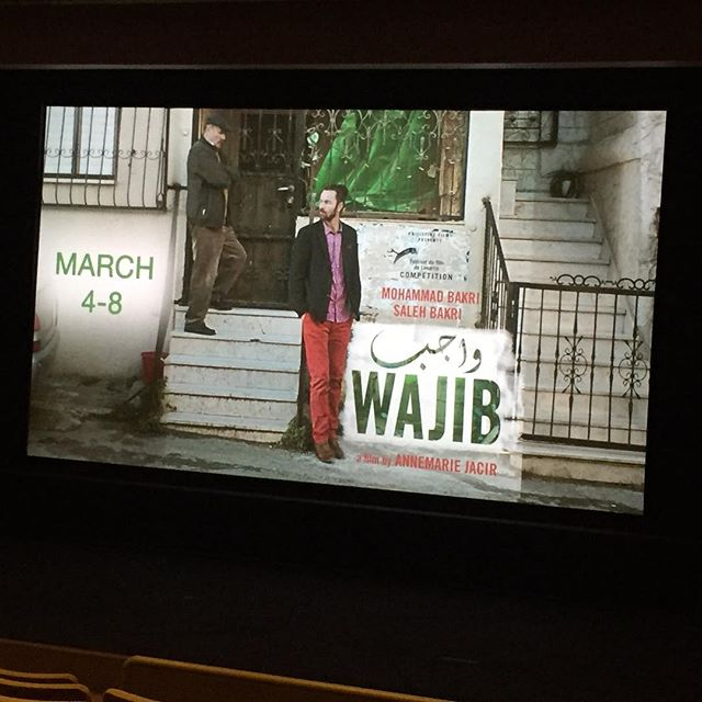 Celebrating International Women's Day by watching a film made by a Palestinian woman @annamariajacir at the @mfaboston! Can't wait for @wajib_the_film!