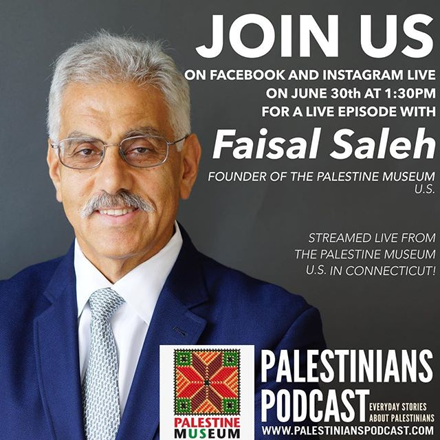 We're so excited for our next LIVE episode on Saturday June 30th at the @palestinemuseum.us! We'll be streaming our interview with Faisal Saleh live on Facebook and Instagram! Like and follow us on Facebook and Instagram to be notified about when we start the live stream (approx 1:30pm EST). See you online!