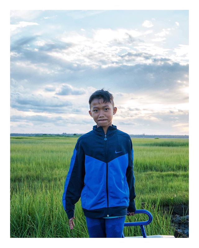 Portrait 2/2 - A young boy in the NJ wetlands after a day of 🎣