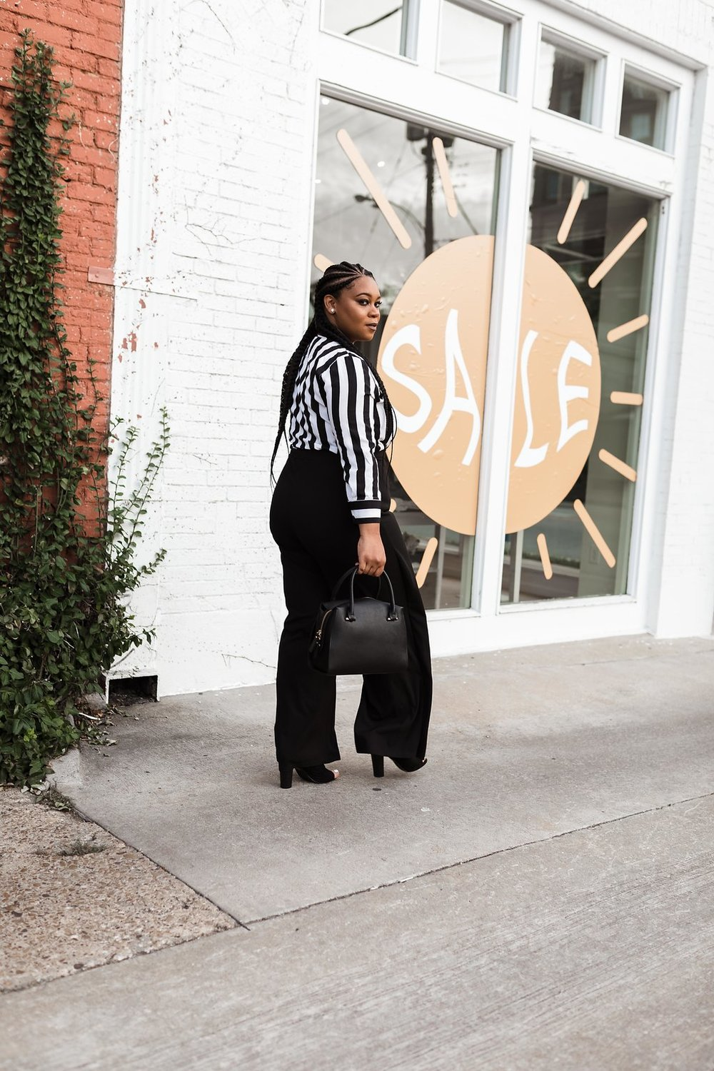 Date Night Outfit -  Stripes - Natalie Greagor