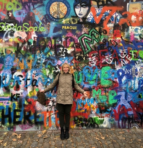 Greetings from the John Lennon wall in Prague