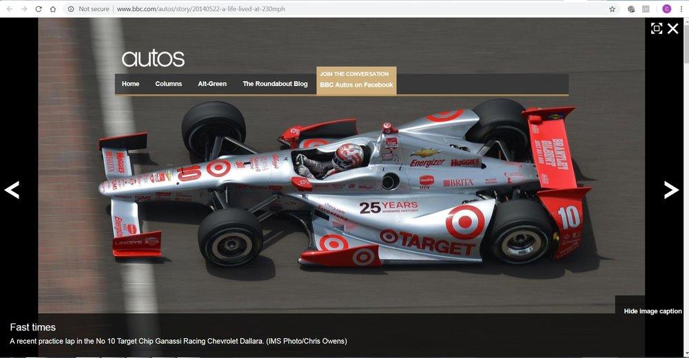 BBC - Tony Kanaan - Indy 500
