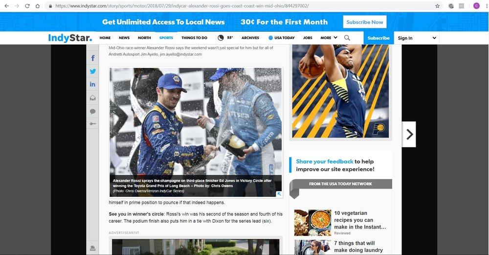 Indy Star - Alexander Rossi