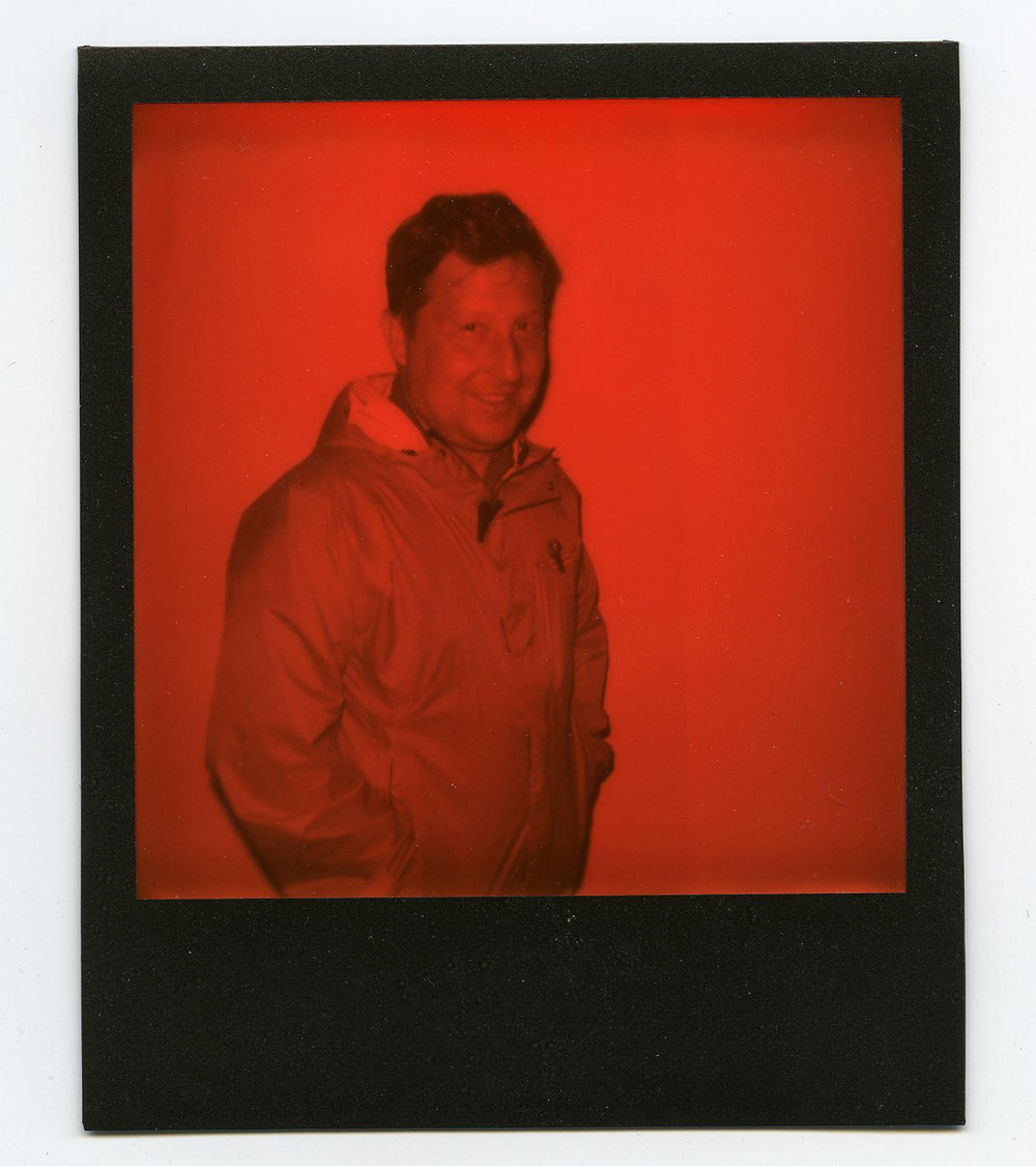 Shawn Gritzmacher - Shot with Impossible Black And Orange Duochrome Instant Film - Speedway, IN