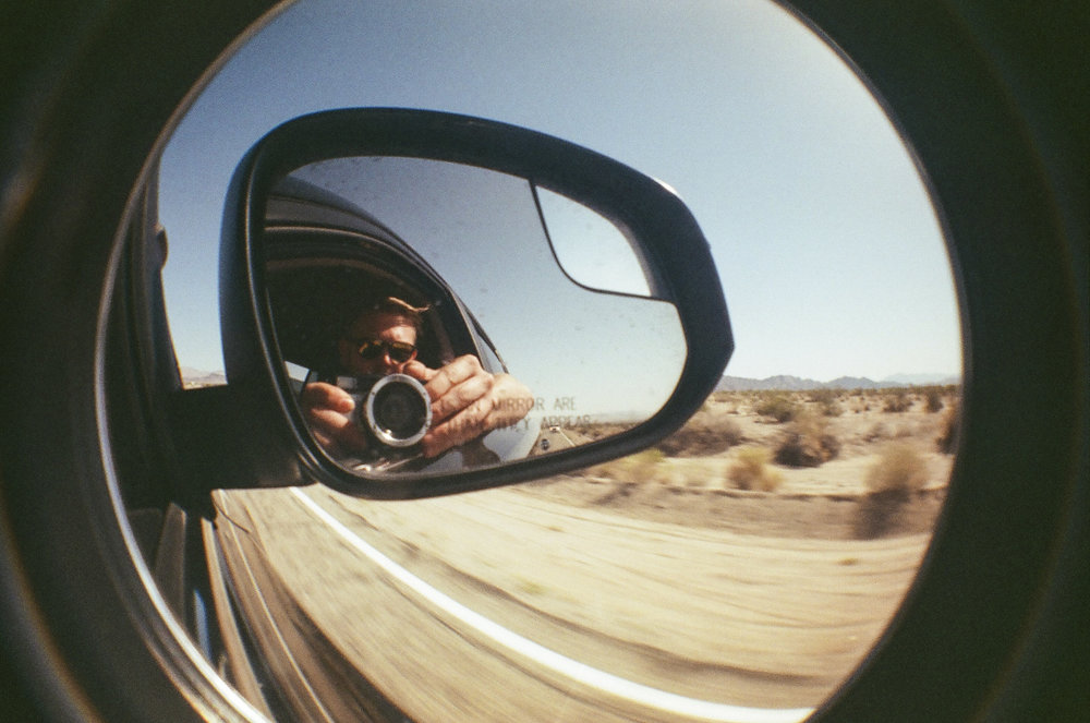 Rockin Down the Highway - Shot with Lomography Fisheye One - 35mm Film - Route 66, CA