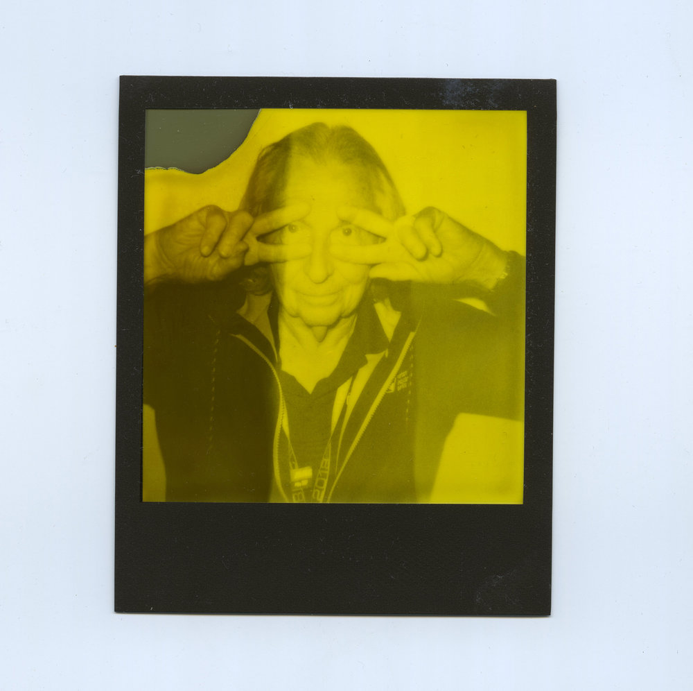 """Slick"" Richard Dowdy - Shot on Polaroid 600 Camera with Impossible Black And Yellow Duochrome Instant Film ( Third Man Records Edition)"