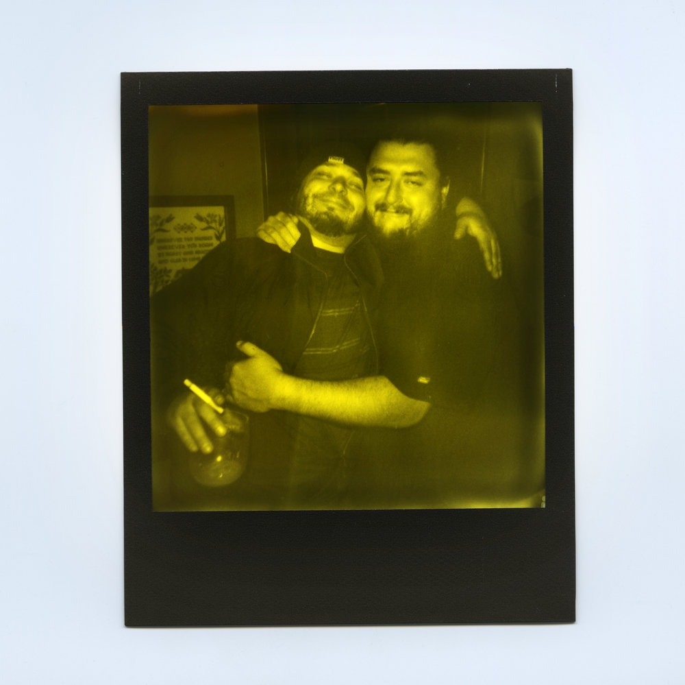 Andy & Luke Shot with Polaroid 600 Camera -  Impossible Yellow Duochrome Instant Film ( Third Man Records Edition) - Bluffton, IN